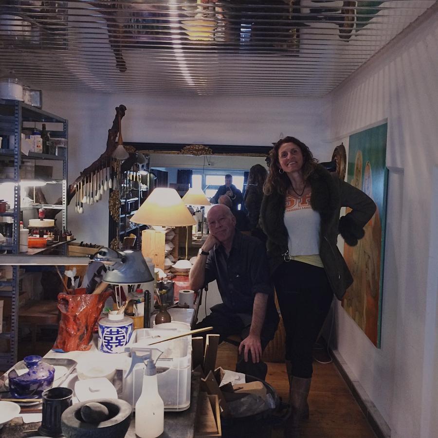 Eva Leube und Martin Pauli in der Lacquer Werkstatt